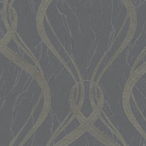 Wallpaper graphic wave anthracite Marburg Opulence 58231 online kaufen