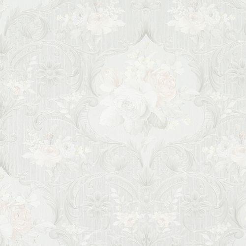Wallpaper bloom floral white grey Marburg Opulence 58266 buy online