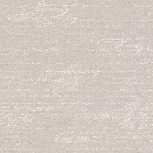 Wallpaper vintage letter grey Rasch Florentine 449556 online kaufen