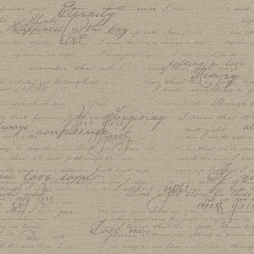 Tapete Vlies Vintage Schrift taupe Rasch Florentine 449570