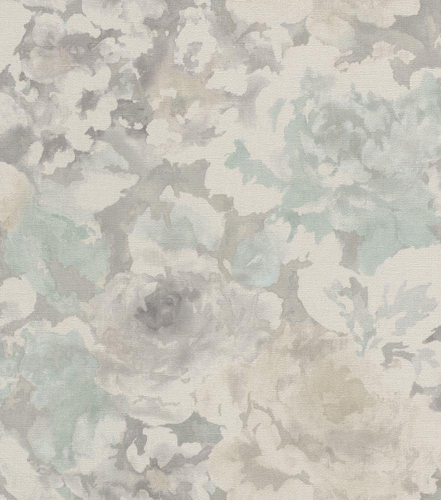 Tapete vlies vintage blumen graubeige rasch florentine 455632 for Vintage tapete