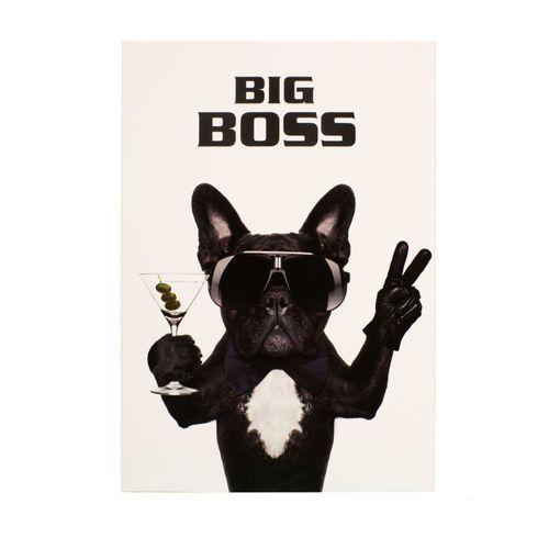 Bild Keilrahmen Wandbild Hund Bulldogge Big Boss 60x90cm