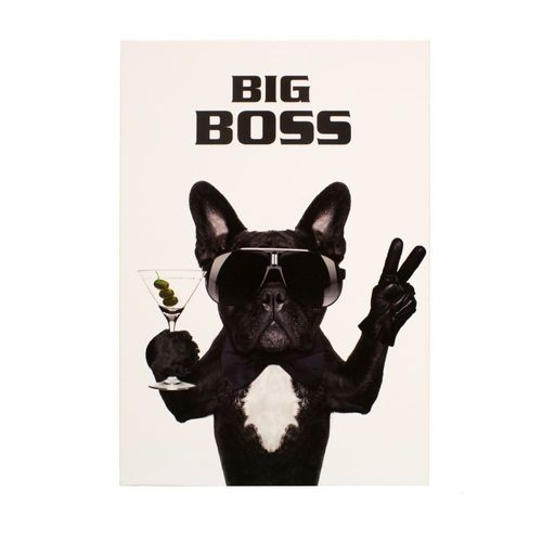 Bild Keilrahmen Wandbild Hund Bulldogge Big Boss 60x90cm online kaufen