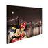 Seitenansicht Wandbild Leinwand Keilrahmen Micky Minnie Maus New York 60x90cm 2