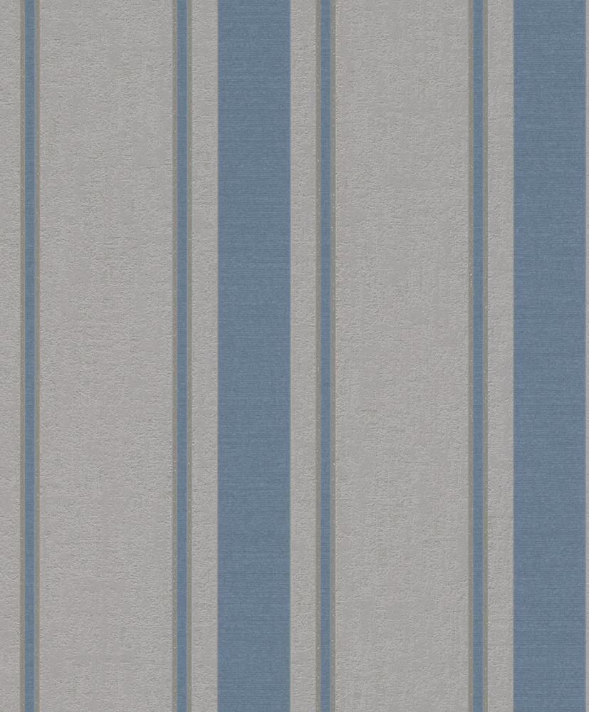 Tapete vlies streifen glitzer blau grau rasch my moments for Tapete glitzer grau