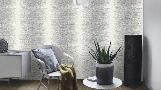 Wallpaper striped silver white Rasch Deco Style 413809 online kaufen