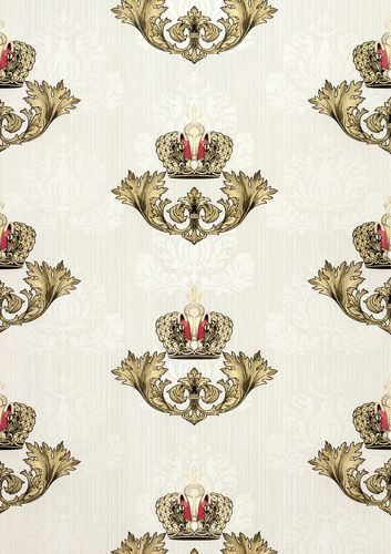 Glööckler wallpaper crown baroque cream gloss 54855 online kaufen