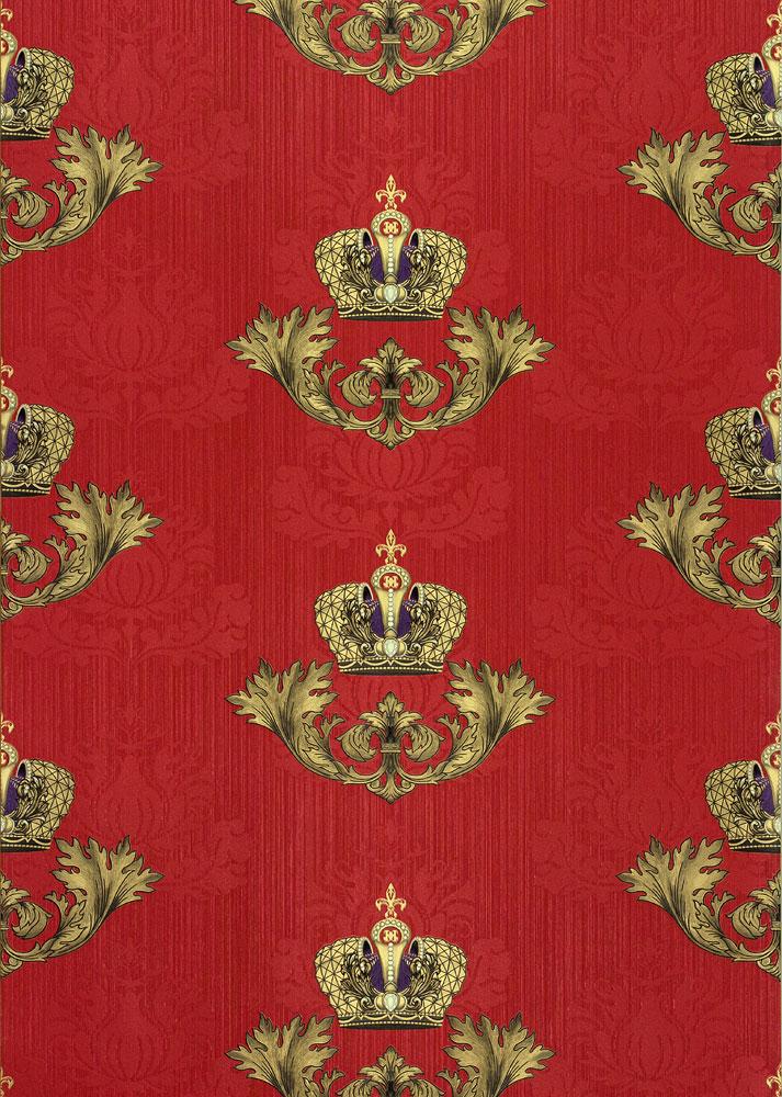 gl ckler tapete vlies krone barock rot glanz 54856. Black Bedroom Furniture Sets. Home Design Ideas