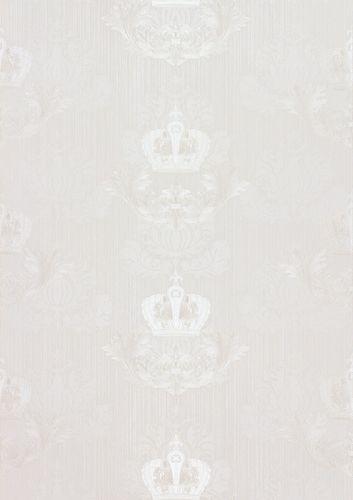 Glööckler Tapete Vlies Krone Barock weiß Glanz 54857 online kaufen