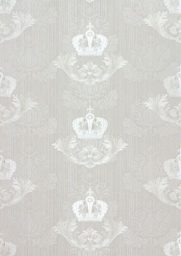 Glööckler wallpaper crown baroque light grey gloss 54858 buy online