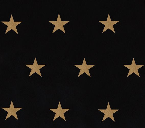 Wallpaper HOMEFACTO:RI Stars Shine black gold 34760-4 online kaufen