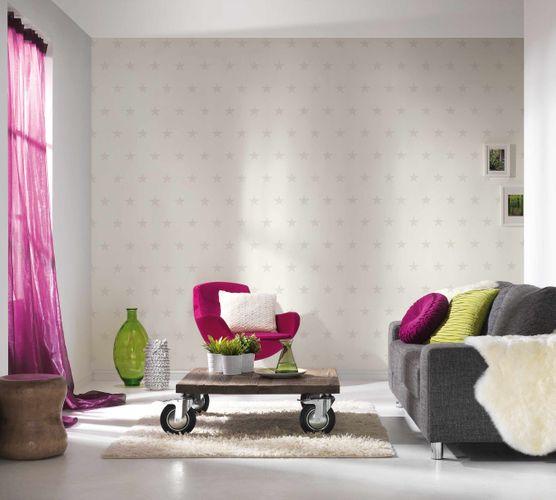 Wallpaper HOMEFACTO:RI Stars Shine white grey 34760-1 online kaufen