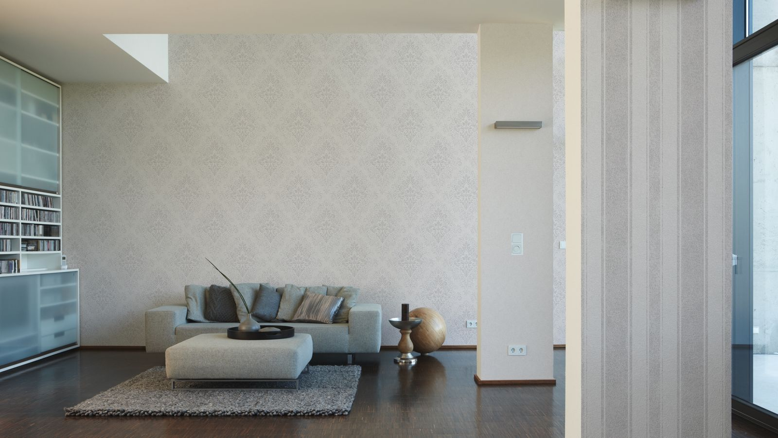 jette joop tapete vlies barock grauwei metallic 33924 6. Black Bedroom Furniture Sets. Home Design Ideas