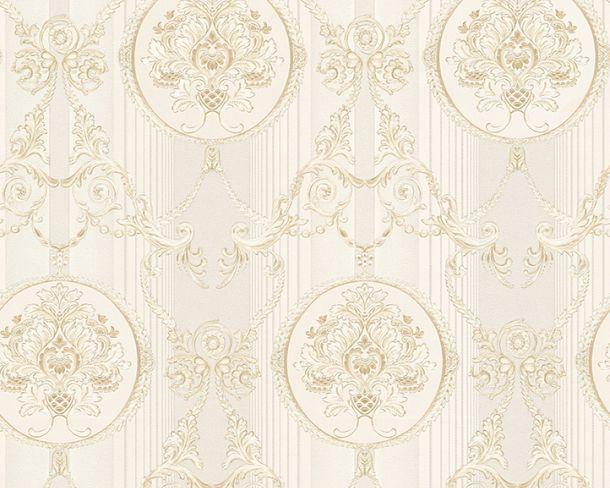 Tapete Vlies Ornament hellgrau Glanz Hermitage 33083-2 online kaufen
