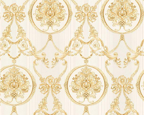 Tapete Vlies Ornament silberweiß Glanz Hermitage 33083-4 online kaufen