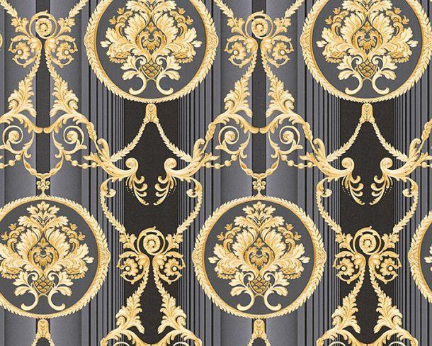 Tapete Vlies Ornament schwarz Glanz Hermitage 33083-6 online kaufen