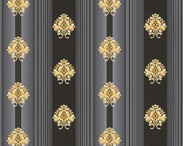 Tapete Vlies Streifen Floral schwarz Glanz Hermitage 33084-6 online kaufen