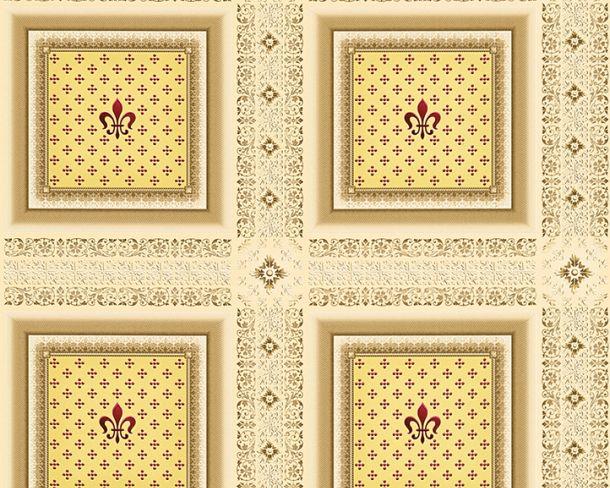 Tapete Vlies Kassetten Lilie cremebeige Glanz Hermitage 33541-1 online kaufen