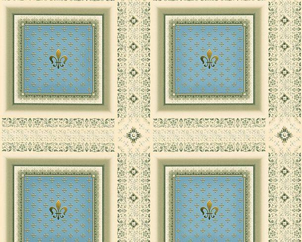 Tapete Vlies Kassetten Lilie blau Glanz Hermitage 33541-2 online kaufen
