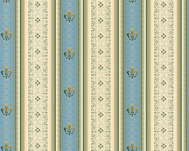 Wallpaper striped lilies blue gloss Hermitage 33542-2 online kaufen