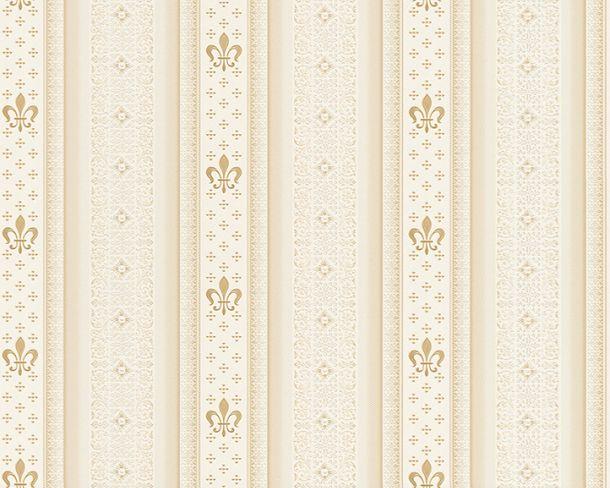 Tapete Vlies Streifen Lilie beige Glanz Hermitage 33542-4 online kaufen