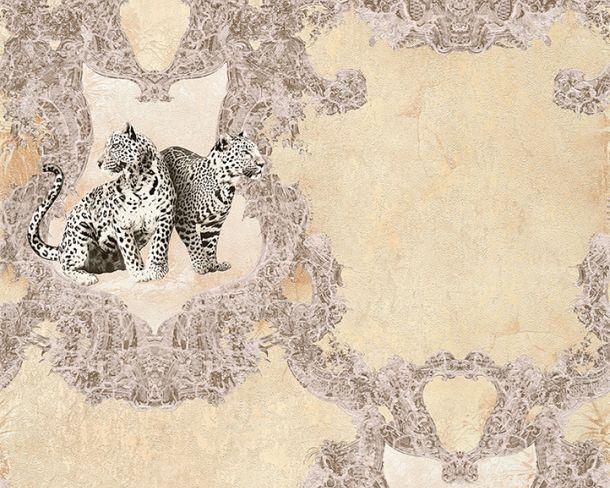 Tapete Vlies Leoparden cremebeige Glanz Hermitage 33543-2 online kaufen