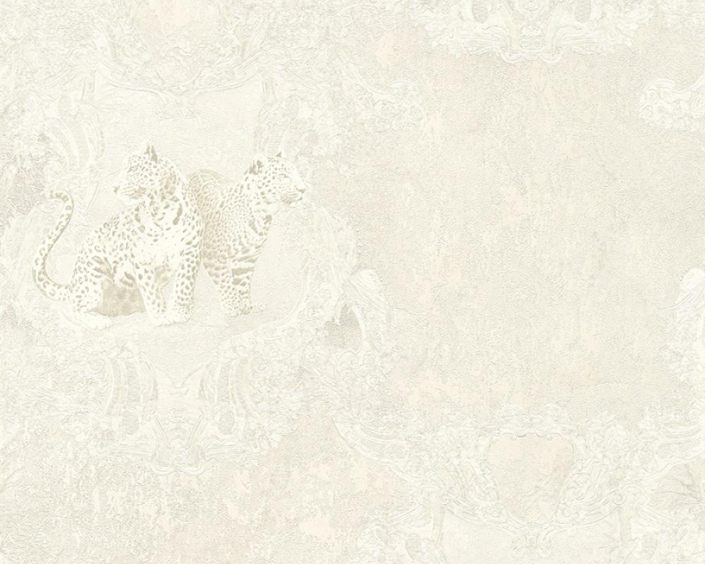 tapete vlies leoparden silber glanz hermitage 33543 4. Black Bedroom Furniture Sets. Home Design Ideas