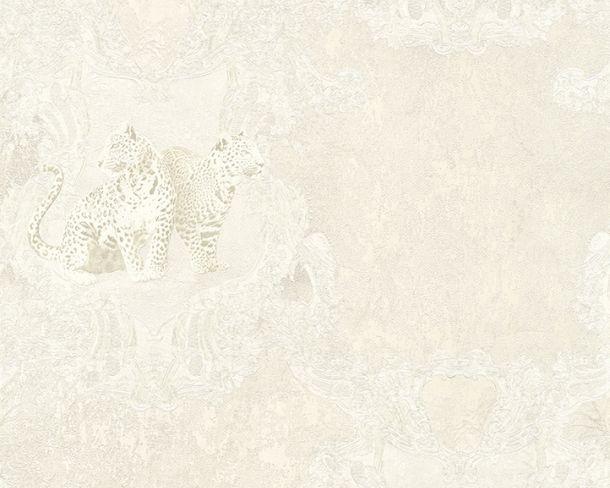 Tapete Vlies Leoparden silber Glanz Hermitage 33543-4 online kaufen
