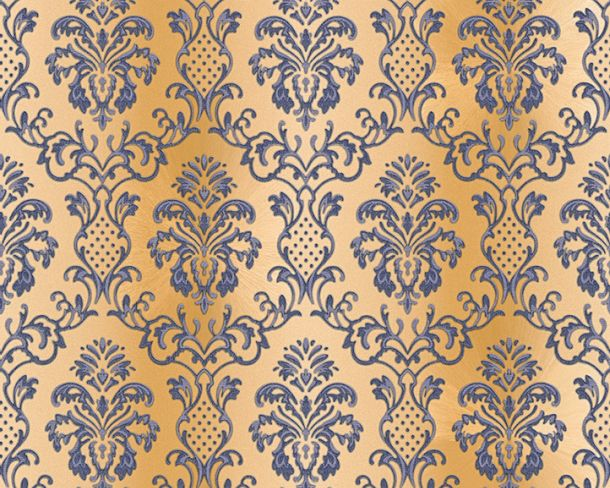 Wallpaper baroque ornament beige gold gloss Hermitage 33545-4