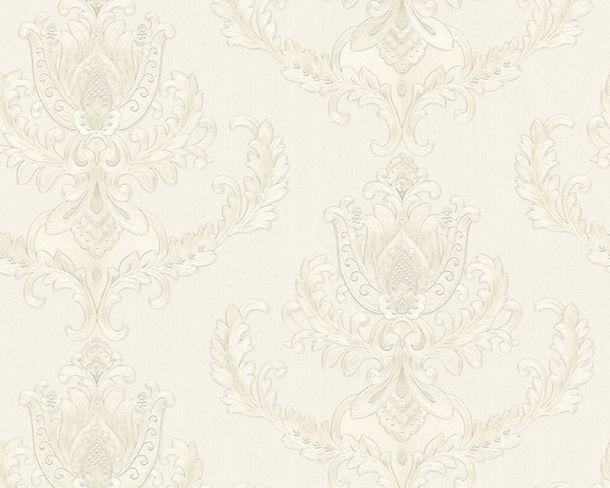 Tapete Vlies Barock Floral weiß silber Glanz Hermitage 33546-1 online kaufen