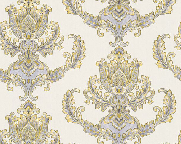 Wallpaper baroque floral white gloss Hermitage 33546-2