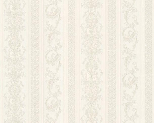 Tapete Vlies Ranken Streifen weiß silber Glanz Hermitage 33547-1 online kaufen