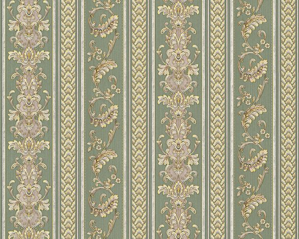Wallpaper striped tendrils green gloss Hermitage 33547-4 online kaufen