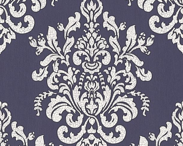Tapete Vlies Barock dunkelblau Glanz Hermitage 34143-1 online kaufen
