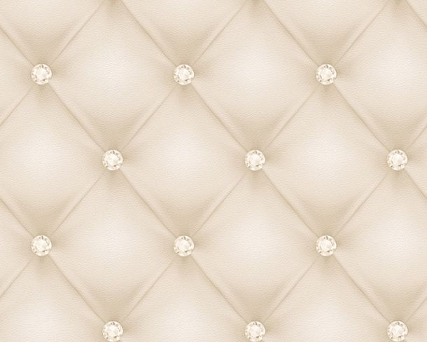 Wallpaper leather 3D cream gloss Hermitage 34144-1