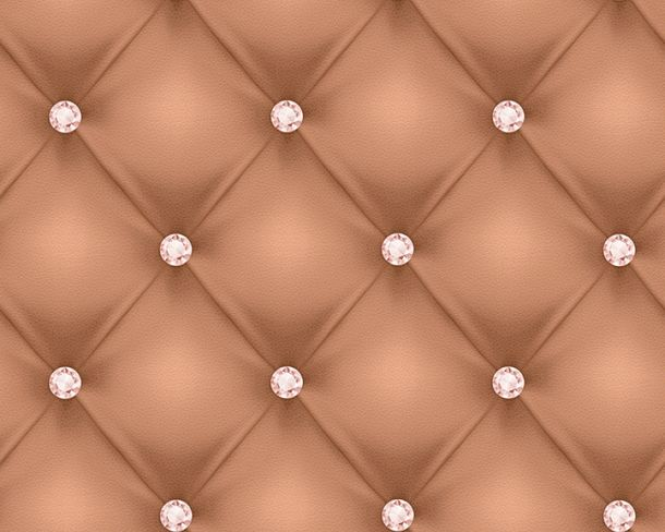 Wallpaper leather 3D cognac gloss Hermitage 34144-3 buy online