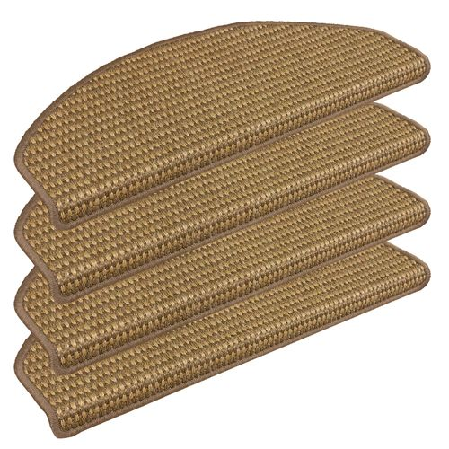 Set of 15 Sisal Stair Tread Mats Cover Campus Natural 28x65cm online kaufen