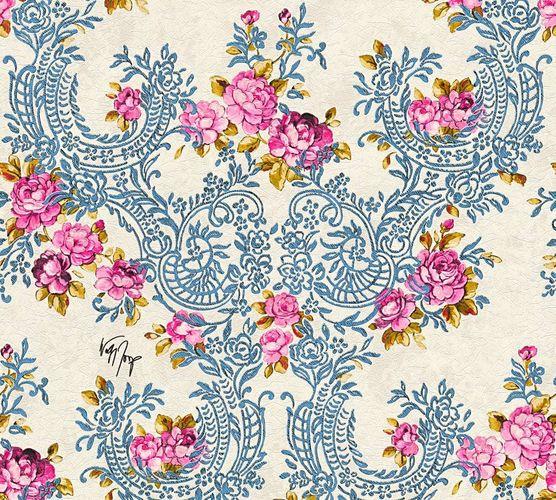 Wolfgang Joop Tapete Blume Ornament blau Glanz 34075-3 online kaufen