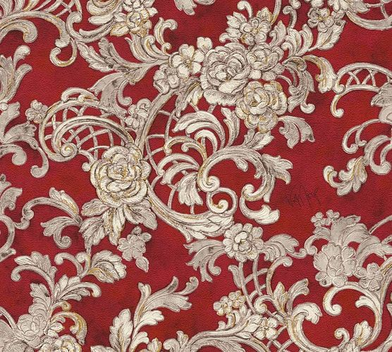 Wolfgang Joop Tapete Floral Ornamente rot Glanz 34077-3 online kaufen