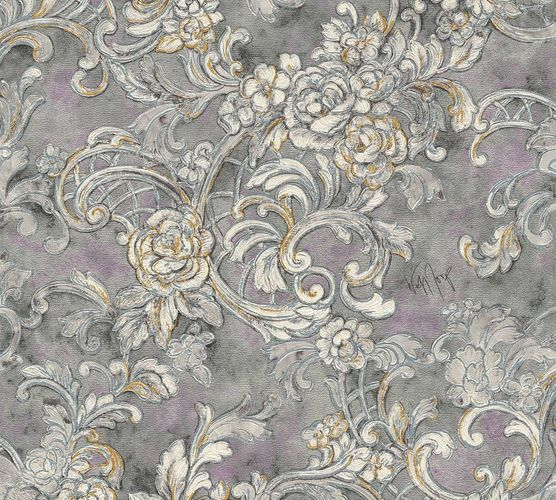 Wolfgang Joop Wallpaper ornaments grey Gloss 34077-4