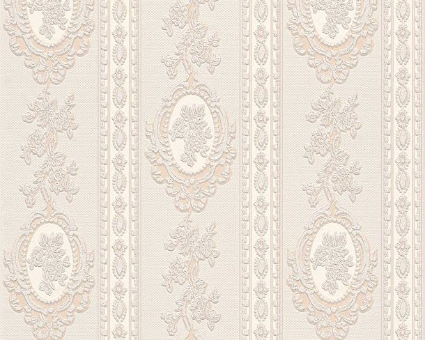 Wallpaper baroque striped cream beige gloss AS 1861-33 online kaufen