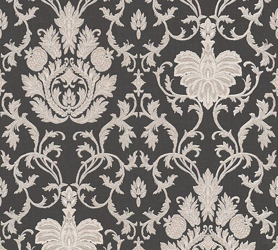 Wallpaper baroque ornaments anthracite gloss AS 3390-58 online kaufen