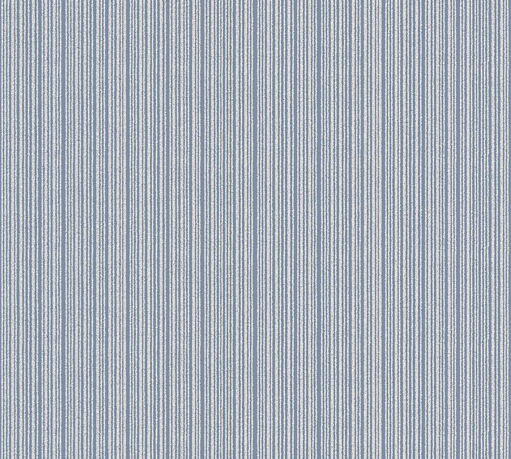 Tapete vinyl struktur gestreift blau glitzer as 3404 74 for Tapete gestreift blau