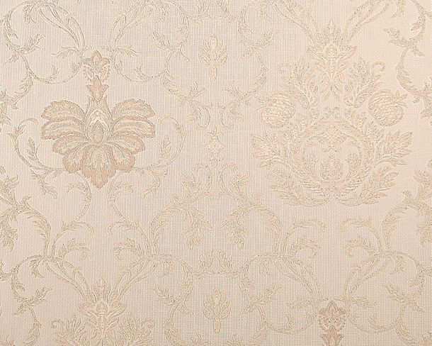 Wallpaper baroque ornaments cream beige gloss AS 5380-17 online kaufen