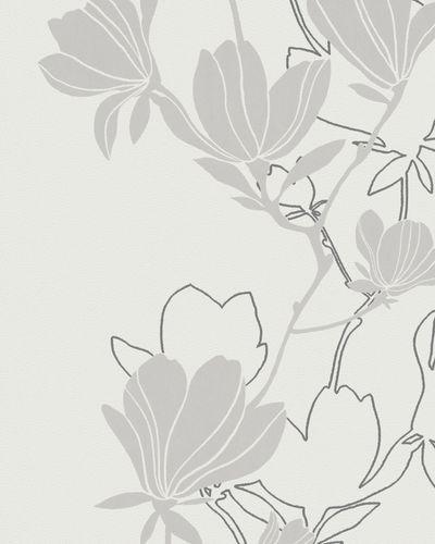 Tapete Vlies Blüte Natur weiß grau Glanz Marburg 57801 online kaufen