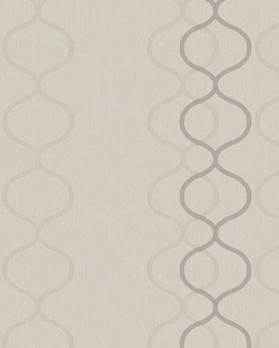 Tapete Vlies Geometrisch beigegrau Glanz Marburg 57843 online kaufen