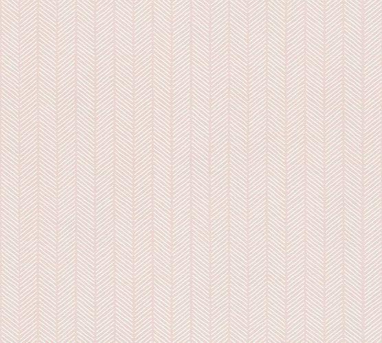 Öko Tapete Vlies Streifen Grafisch rosé Glanz AS 34134-3