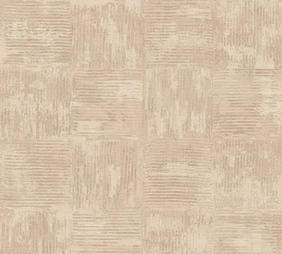 Wallpaper vintage tiles brown beige AS Creation 33989-2