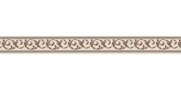 Wallpaper Border self-adhesive Tendrils cream brown 2591-10