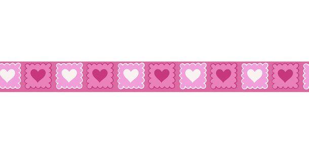 Tapetenborte Bordüre Herzen pink weiß AS 2818-38 online kaufen